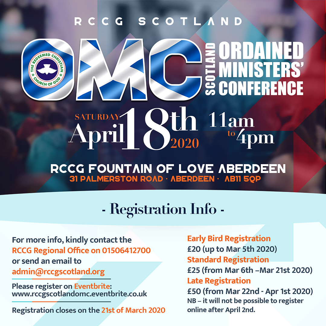 OMC - Ordained Ministers' Conference Scotland Flyer
